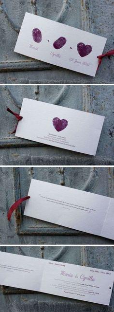 convite romântico de casamento