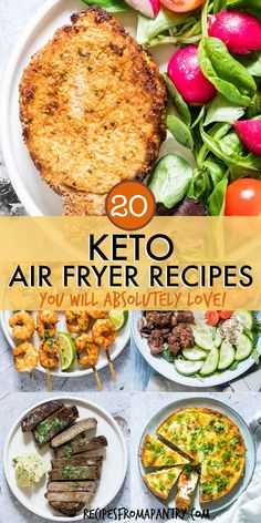 This collection of 20 Keto Air Fryer Recipes includes a wide range of tasty, tot. - This collection of 20 Keto Air Fryer Recipes includes a wide range of tasty, totally satisfying and - Air Fryer Recipes Keto, Air Fryer Dinner Recipes, Low Carb Recipes, Healthy Recipes, Meat Recipes, Fish Recipes, Snacks Recipes, Diet Snacks, Oven Recipes