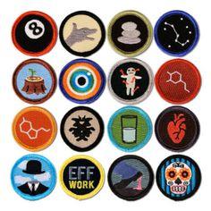 16-pack Merit Badges
