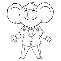 Elephant from Sing 2016 coloring pages printable and coloring book to print for free. Find more coloring pages online for kids and adults of Elephant from Sing 2016 coloring pages to print. Disney Coloring Pages, Coloring Pages To Print, Coloring Book Pages, Printable Coloring Pages, Coloring Pages For Kids, Coloring Sheets, Adult Coloring, Kids Coloring, Sing Movie