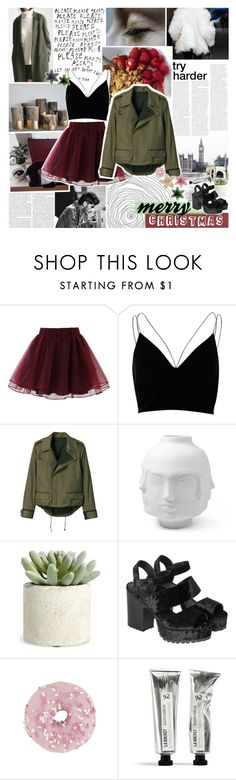"""merry christmas ♥"" by www-purrtydino-org ❤ liked on Polyvore featuring GET LOST, Chicwish, River Island, THE RERACS, Jonathan Adler, Allstate Floral, Monki and polyvoreeditorial"