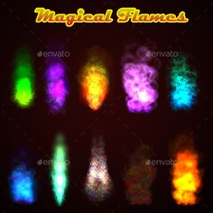 Magical Flames - Sprites Game Assets