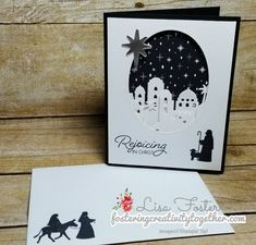 Stampin' Up! Night in Bethlehem Christmas Card Christmas Cards 2017, Religious Christmas Cards, Homemade Christmas Cards, Xmas Cards, Homemade Cards, Holiday Cards, Handmade Christmas, Merry Christmas, Stampin Up Weihnachten