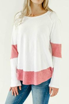 Pullover thermal style shirt with heathered red jersey detail at the hemline and elbow. This item runs big, so for a more fitted look we recommend sizing down. Fall Fashion 2016, Fall Fashion Outfits, Cool Outfits, Womens Fashion, Spring Outfits, Casual Tops, Casual Shirts, Social Threads, Stitch Fix Fall