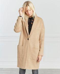 Крупногабаритные карамель пальто One Step