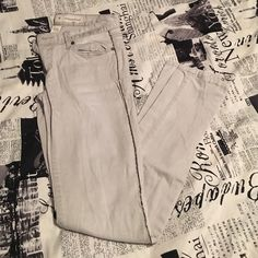 Charlotte Russe light grey extreme skinny jeans Light grey skinny jeans with  beading down the side. Super cute on !  Charlotte Russe Jeans Skinny