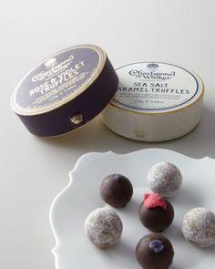 Rose + Violet truffles, yum.