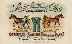 """bobimpresa:  """"1889 LS&Co ad  """""""