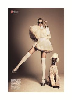 Who says we can't learn a thing or two from our furry companions?  Agyness Deyn by Damon Baker for Stern Magazine September 2011