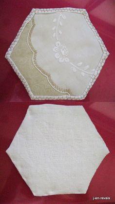 blanc beequilt et vieilles dentelles - napperon