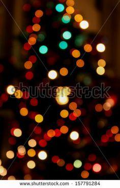 christmas tree, bokeh effect