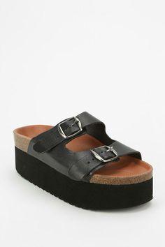 Sixtyseven Indigo Platform Sandal #urbanoutfitters