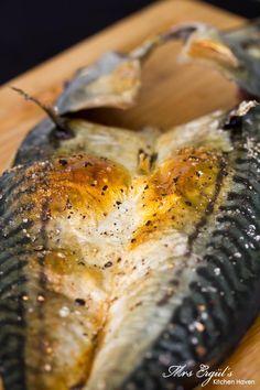 Grilled saba fish for a quick weenight dinner. Saba + salt + pepper + oven time + squirt of lemon!