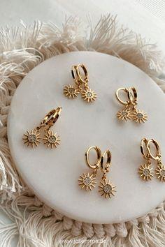 Damen Creolen Ohrringe runde große Ohrhänger Party Geschenk Ohrschmuck Mode