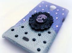 Creepy cameo phone case, custom made spooky gothic phone case
