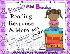 This  Reading Response to Literature Activities freebie contains 5 fold-able, mini books.  Included are two reader's response to literature books (story summary & main character),  one book reviewing verbs, one book practicing the contractions don't & won't, and one book reviewing the question mark.