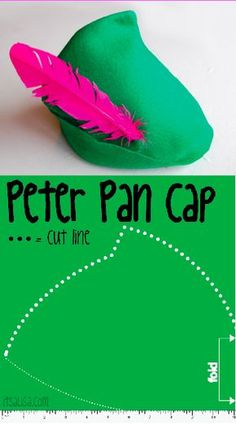 Peter Pan Cap guide. How to make a felt hat for Halloween Costume. read more on itsaLisa.com