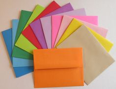 colorful a2 enVELOPE