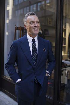 Douglas Cordeaux, London | The Sartorialist Milan Fashion Weeks, London Fashion, New York Fashion, Sartorialist, Parisian Chic, Poses, Suit And Tie, Celebrity Style, Suit Jacket