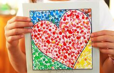 Trendy Pointillism Art Projects For Kids Valentines Day Ideas Valentines Day Activities, Valentines For Kids, Valentine Day Crafts, Valentine Ideas, Kid Activities, Kids Crafts, Arts And Crafts, Kindergarten Art, Preschool Crafts