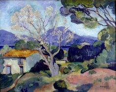 """Henri MANGUIN 1874-1949 (peintre FAUVE) - """"l'amandier"""""""