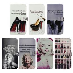 Marilyn Monroe High heels Wallet Flip PU Leather Case for Samsung Galaxy S5 #MarilynMonroe #NormaJeanBaker #Quote