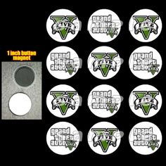 GRAND THEFT AUTO MAGNETS