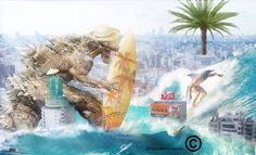 Godzilla macht Urlaub