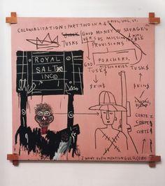 Jean-Michel Basquiat, Native Carrying Some Guns, Bibles, Amorites on Safari,1982 on ArtStack #jean-michel-basquiat #art