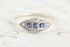 """52 Engagement Rings That Make Saying """"Yes"""" Easy  #refinery29  http://www.refinery29.com/fashion-forward-engagement-ring-styles#slide-17  Erica Weiner's contemporary 1909 jewelry collection draws its inspiration from the past."""