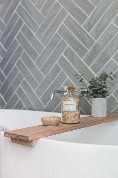 Bath Caddy . 2inTwelve Collaboration. Shop Loughlin Furniture. #Bathroomgrey