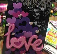 Baby Art Crafts, Diy And Crafts, Arts And Crafts, Valentines Day, Scrapbook, Lettering, Cards, Sinks, Paper Purse