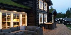 HYTTEDRØMMEN: Hytta til familien Seljeset Nytrøen er basert på en eksisterende hyttemodell, men tilpasset egne ønsker og behov.