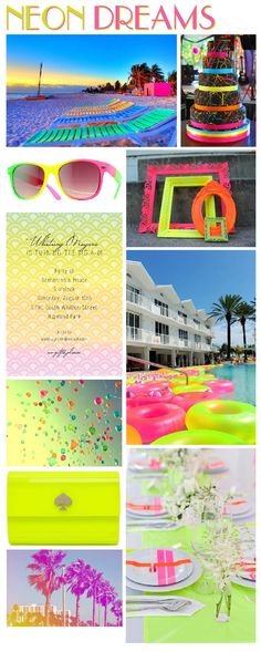 {Party Idea:} Neon | Polka Dot Design Blog: Ideas, Inspiration & Invitations