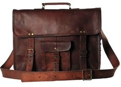 Handmade Leather Messenger Satchel Crossbody Office Laptop Briefcase Bag for Men and Women -- Learn more by visiting the image link.