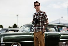I'm a sucker for the hair and glasses, for sure. | On the Scene…..Vintage Car Show at Viva Las Vegas, Las Vegas « The Sartorialist