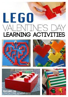 How do you spell love? L-E-G-O. Check out these amazing Lego Valentine's Day activities.