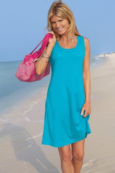 Tank Dress Cover-Up: Classic Women's Clothing from #ChadwicksofBoston $12.99…