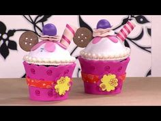 Como Hacer Muffin en Foami - HogarTv por Juan Gonzalo Angel - YouTube
