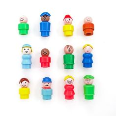 Awe, the original little people. I loved these and had a ton of them. I wish I would've kept them for my kiddo's!