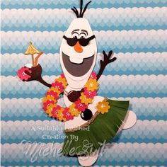"""Olaf LOVES Summer  by Michelle Suit, Please say """"Hello"""" to the newest addition to the SUITABLY PUNCHED line of punch art. Olaf just couldn't be happier that summer is finally here. :-)"""