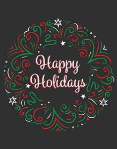 22 x 28 Pre-Printed Happy Holidays Poster Chalkboard Christmas Wishes, Winter Christmas, Christmas Greetings, Happy Holidays Message, Happy Holidays Images, Holiday Messages, Jamel, Christmas Chalkboard, Holiday Signs