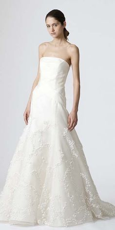 Extra Length Lace White by Vera Wang VNeck Wedding Dress with Bow
