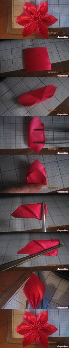 DIY New Leaf Ribbon Flower DIY Projects | UsefulDIY.com Follow Us on Facebook --> www.facebook.com/...