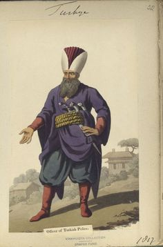 Officer of Turkish Police. The Vinkhuijzen collection of military uniforms / Turkey, 1812. See McLean's Turkish Army of 1810-1815.
