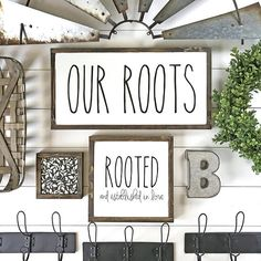 This Silva Design ORIGINAL Our Roots Modern Farmhouse Sign Our Roots- Family Established Wood Signs- Gallery Wall Decor- Modern Farmhouse Wall Decor- Collage Wall- Family Sign Wood- Housewarming Gift  Product Dimension: 25x13 Background: White Lettering: Black Frame: Jacobean Stain Back: Jacobean Stain, Silva Design branded logo Other: Hanging hardware not included. Sign hangs easily from the framing or sits on own.  RESTOCKS: This creation is restocked in limited quantities the 1st of every…