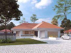 Neptun 5 projekt domu - Jesteśmy AUTOREM - DOMY w Stylu House Plans With Photos, My House Plans, Beautiful House Plans, Beautiful Homes, Architectural House Plans, Home Design Floor Plans, Villa, Small House Design, Home Fashion