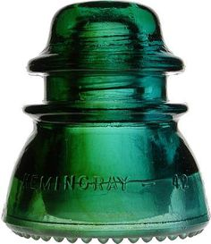 colors #kelly green, #emerald, Vintage Glass Insulator