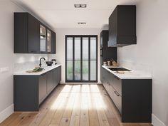 Dr Kitchen, Kitchen Room Design, Kitchen Cabinet Design, Kitchen Interior, Kitchen Cabinets, Beautiful Kitchen Designs, Beautiful Kitchens, Black Kitchens, Home Kitchens