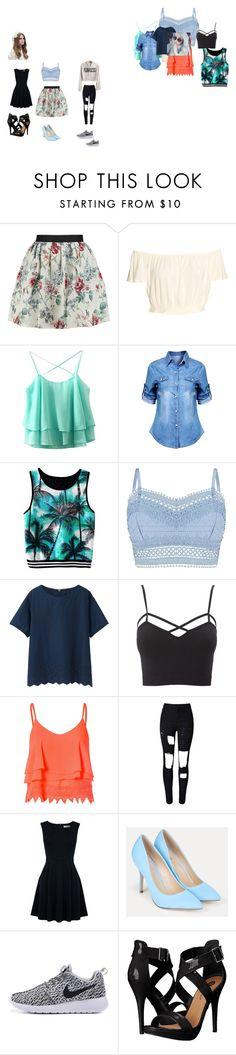 """""""Tender Only Casual"""" by lesli-andrea on Polyvore featuring moda, Raoul, Lipsy, Uniqlo, Charlotte Russe, Glamorous, WithChic, Oasis, JustFab y Michael Antonio"""